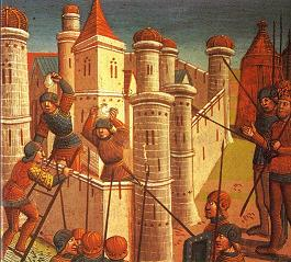 The 1453 Siege of Constantinople (painted 1499)