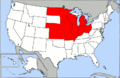 800px-Map of USA highlighting OCA Midwest Diocese.png