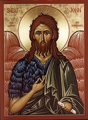 St John the Forerunner, the cousin of Christ and last of the prophets.