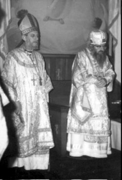 Bp. Jean-Nectaire (Kovalevsky) of Saint-Denis and St. John Maximovitch in 1964