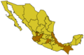Map of Mexico highlighting OCA Mexican Exarchate.png